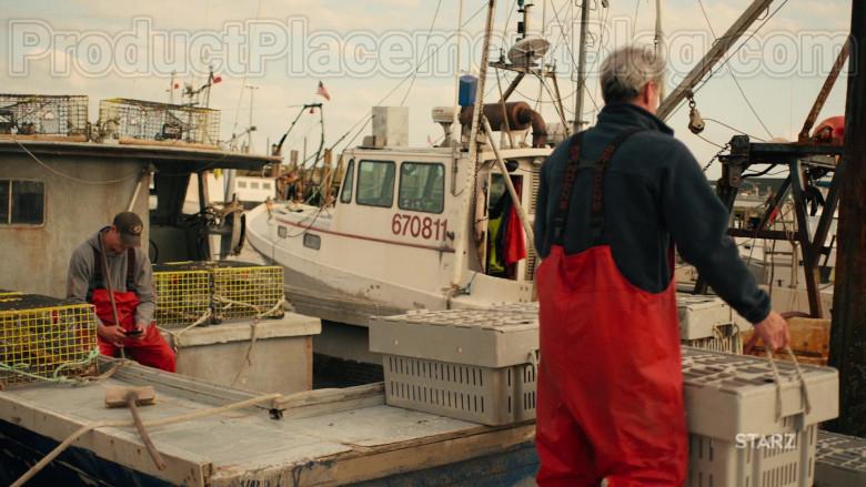 Grundéns Fishing Bib Pants in Hightown S01E01 (5)