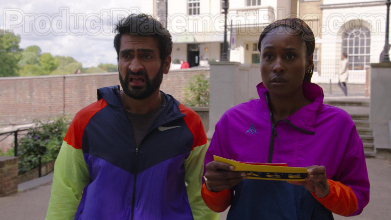 Issa Rae Wearing Nike Jacket For Running in The Lovebirds Movie by Netflix (2)