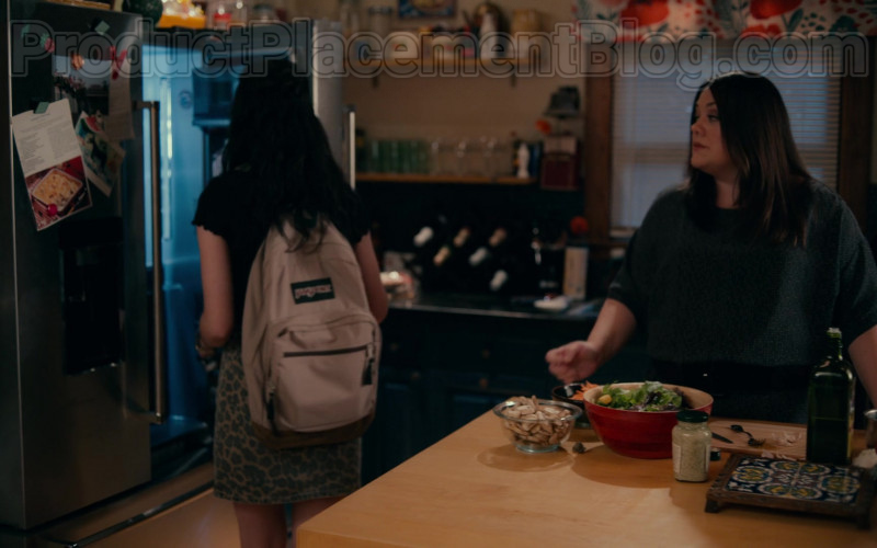 JanSport Backpack of Anneliese Judge as Annie Sullivan in Sweet Magnolias S01E03 Give Drink to the Thirsty (2020)