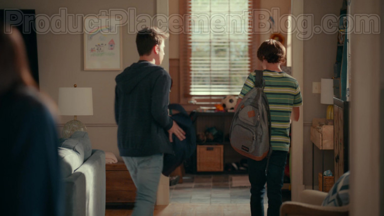 JanSport Backpack of Logan Allen as Kyle Townsend in Sweet Magnolias S01E07 Netflix Original TV Show