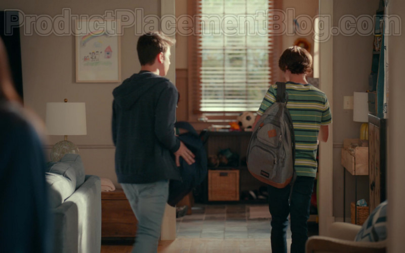 JanSport Backpack of Logan Allen as Kyle Townsend in Sweet Magnolias S01E07 Netflix Original TV Show