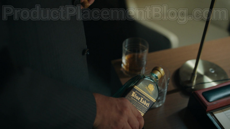 Johnnie Walker Blue Label Blended Scotch Whisky Enjoyed by Paul Giamatti as Charles 'Chuck' Rhoades, Jr.