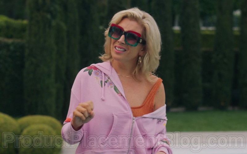 June Diane Raphae Wearing Gucci 0083 Square Frame Sunglasses in The High Note Movie