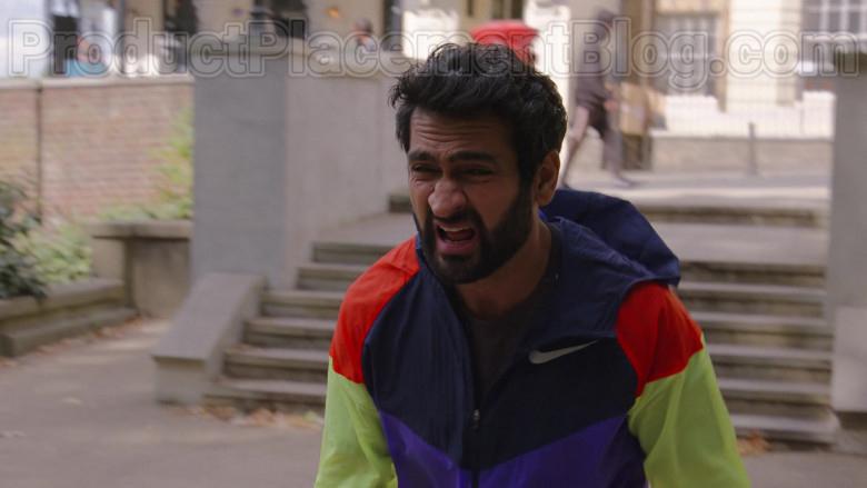 Kumail Nanjiani Wearing Nike Windrunner Jacket in The Lovebirds Movie (1)
