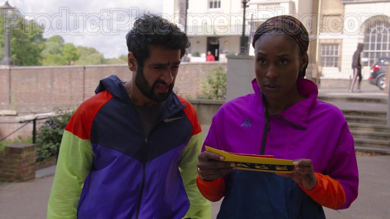 Kumail Nanjiani Wearing Nike Windrunner Jacket in The Lovebirds Movie (2)