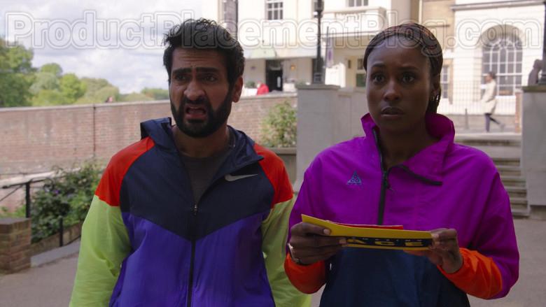 Kumail Nanjiani Wearing Nike Windrunner Jacket in The Lovebirds Movie (3)