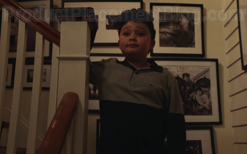 Lacoste Boys Shirt of Blue Chapman as JJ Perry in Council of Dads S01E04