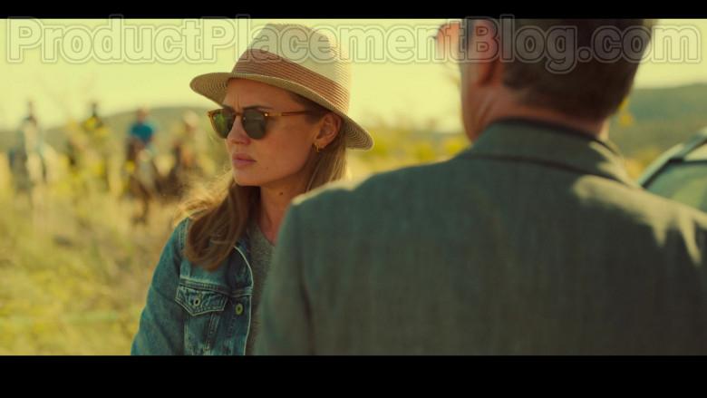 Laura Haddock as Zoe Walker Wearing Mykita Alfur Brown Oval Unisex Sunglasses in White Lines TV Show by Netflix (1)