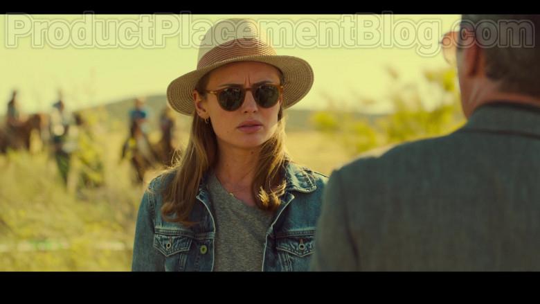 Laura Haddock as Zoe Walker Wearing Mykita Alfur Brown Oval Unisex Sunglasses in White Lines TV Show by Netflix (2)