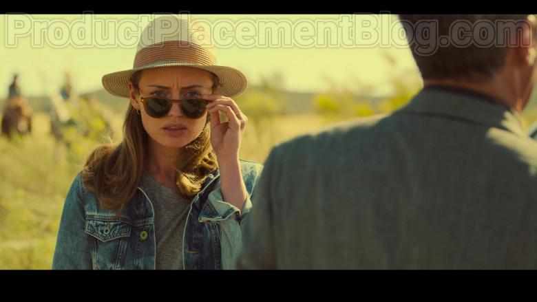 Laura Haddock as Zoe Walker Wearing Mykita Alfur Brown Oval Unisex Sunglasses in White Lines TV Show by Netflix (3)