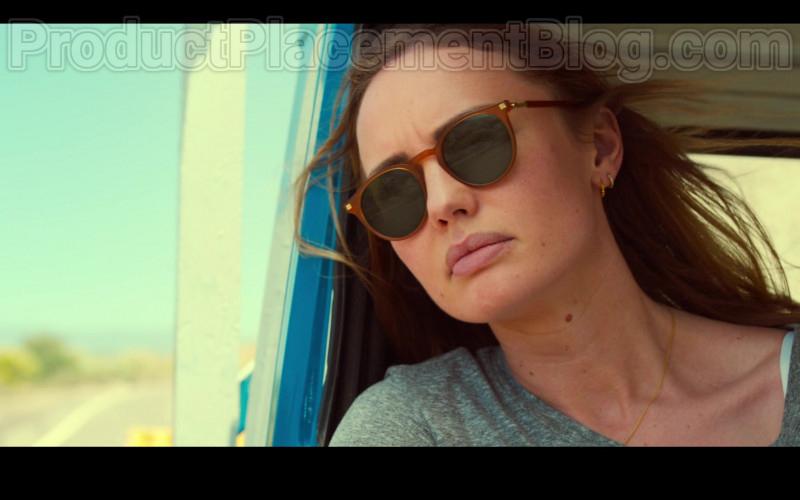 Laura Haddock as Zoe Walker Wearing Mykita Alfur Brown Oval Unisex Sunglasses in White Lines TV Show by Netflix (4)