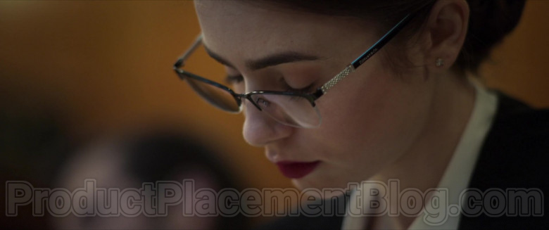 Lily Collins Wearing Tiffany & Co. Eyeglasses in Inheritance Movie (1)