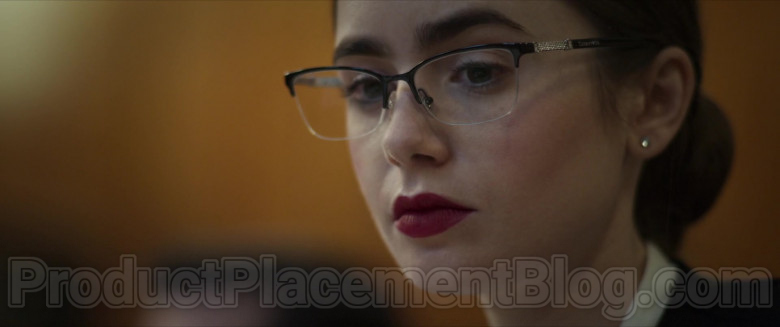 Lily Collins Wearing Tiffany & Co. Eyeglasses in Inheritance Movie (2)