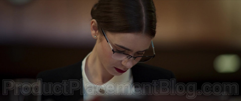 Lily Collins Wearing Tiffany & Co. Eyeglasses in Inheritance Movie (3)