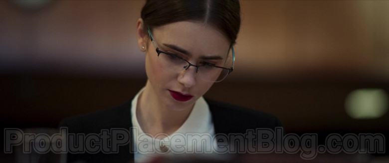 Lily Collins Wearing Tiffany & Co. Eyeglasses in Inheritance Movie (4)