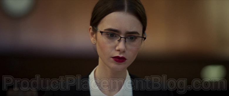 Lily Collins Wearing Tiffany & Co. Eyeglasses in Inheritance Movie (5)