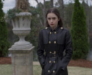 Versace Leather Trench Coat of Lily Collins as Lauren Monroe...
