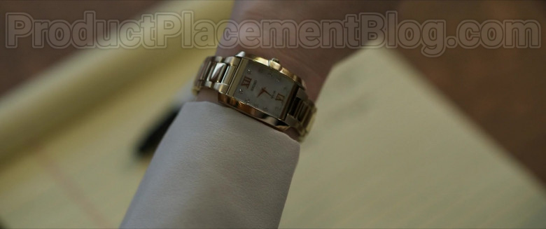 Lily Collins as Lauren Monroe Wearing Seiko Solar Women's Gold Wrist Watch in Inheritance Movie (1)
