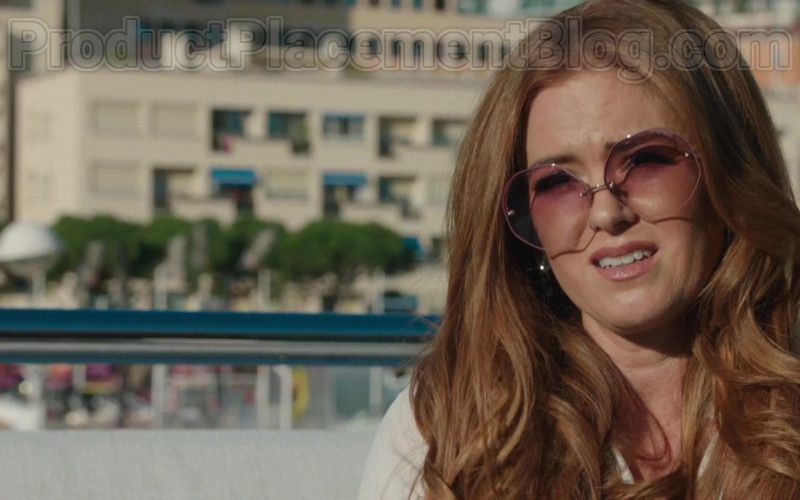 Linda Farrow Oversized Sunglasses Worn by Isla Fisher in Greed Film (1)