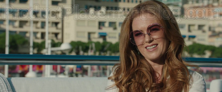 Linda Farrow Oversized Sunglasses Worn by Isla Fisher in Greed Film (2)