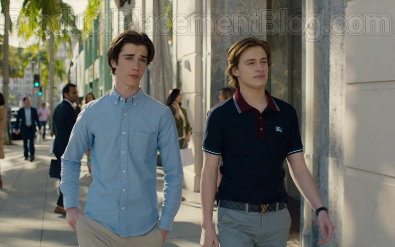 Louis Vuitton Men's Belt in American Housewife S04E19 Vacation! (2020)