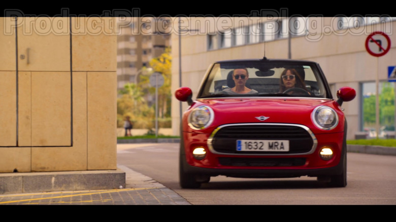 MINI Cooper Convertible Red Car in White Lines TV Show by Netflix (1)