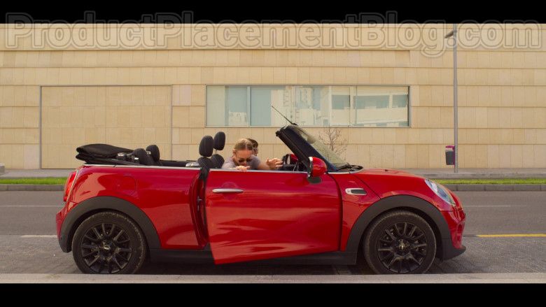 MINI Cooper Convertible Red Car in White Lines TV Show by Netflix (2)