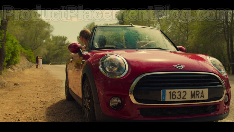 MINI Cooper Convertible Red Car in White Lines TV Show by Netflix (4)