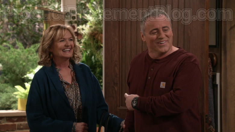 Matt LeBlanc Wearing Carhartt Men's Workwear Pocket Henley Shirt in Man with a Plan S04E09 TV Series (1)