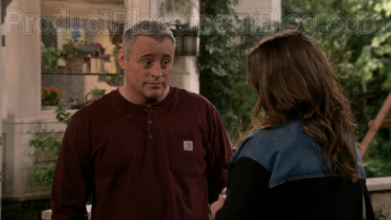Matt LeBlanc Wearing Carhartt Men's Workwear Pocket Henley Shirt in Man with a Plan S04E09 TV Series (4)