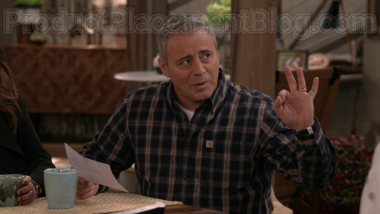 Matt LeBlanc Wearing Carhartt Plaid Flannel Long Sleeve Shirt in Man with a Plan S04E10 TV Show (2)