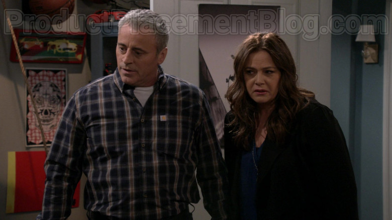 Matt LeBlanc Wearing Carhartt Plaid Flannel Long Sleeve Shirt in Man with a Plan S04E10 TV Show (4)