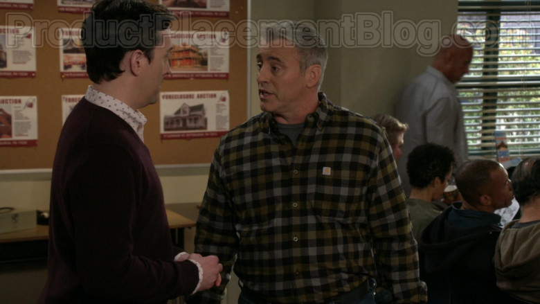 Matt LeBlanc as Adam Burns Wearing Carhartt Men's Flannel Long Sleeve Shirt in Man with a Plan S04E08 TV Show (1)