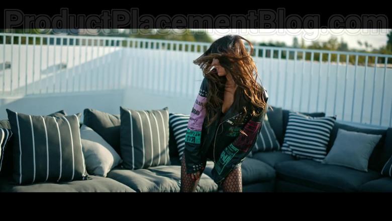 "Megan Fox Wearing Diesel Black Leather Biker Jacket in ""Bloody Valentine"" Music Video by Machine Gun Kelly (1)"