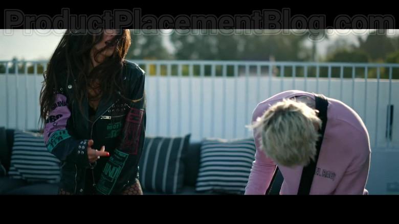 "Megan Fox Wearing Diesel Black Leather Biker Jacket in ""Bloody Valentine"" Music Video by Machine Gun Kelly (3)"