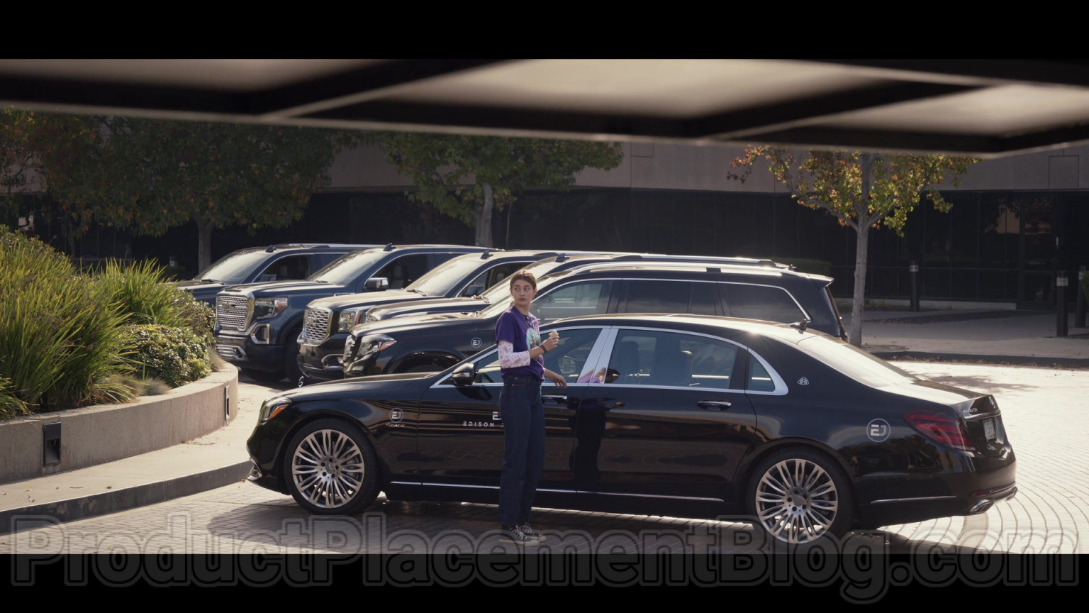 mercedes-benz s-class maybach s560 black car in space