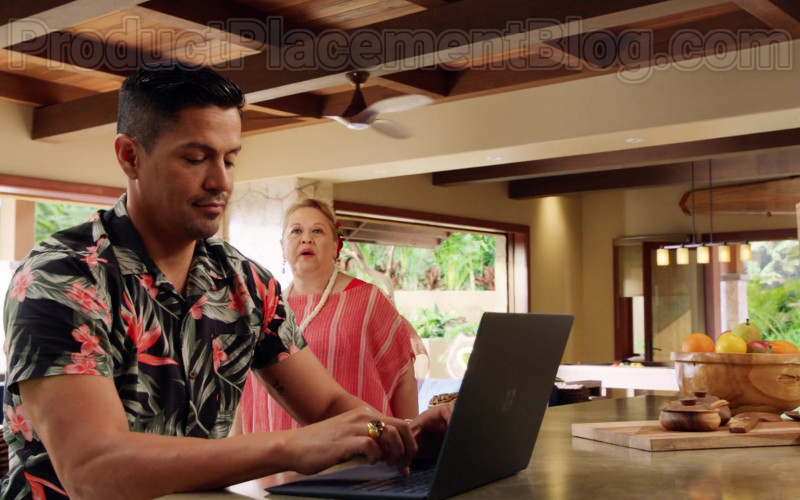 Microsoft Surface Laptop Used by Jay Hernandez in Magnum P.I. S02E19