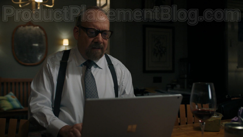 Microsoft Surface Laptop of Paul Giamatti as Charles 'Chuck' Rhoades, Jr. in Billions S05E01