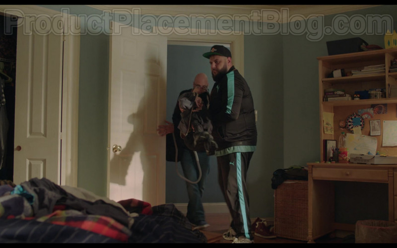 Mohammed Amer as Mo Wearing Puma Jacket and Pants Tracksuit Sports Outfit in Ramy S02E01 TV Show