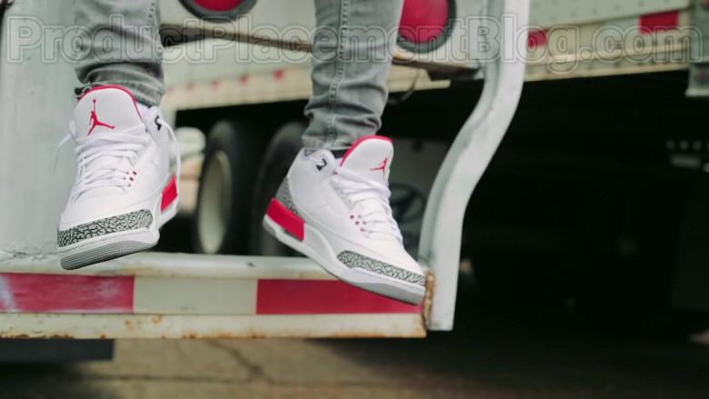 "Moneybagg Yo Wearing Nike Air Jordan 3 Retro Sneakers in ""Me Vs Me"" 2020 Official Music Video (2)"