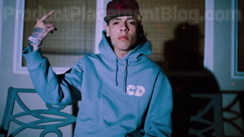 """Natanael Cano Wearing Dior Oversized Hoodie Daniel Arsham Print Outfit in """"Arriba"""" Music Video (5)"""