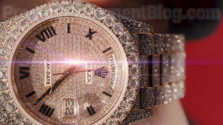 "Natanael Cano Wearing Rolex Diamond Wrist Watch of in ""Arriba"" Music Video (1)"