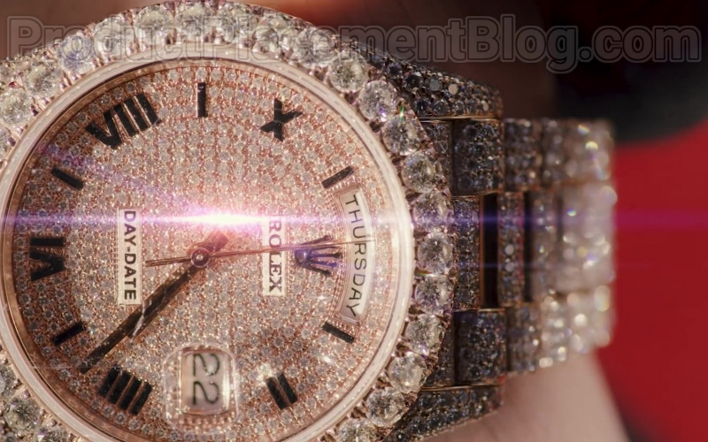 "Natanael Cano Wearing Rolex Diamond Wrist Watch of in ""Arriba"" Music Video (1)"