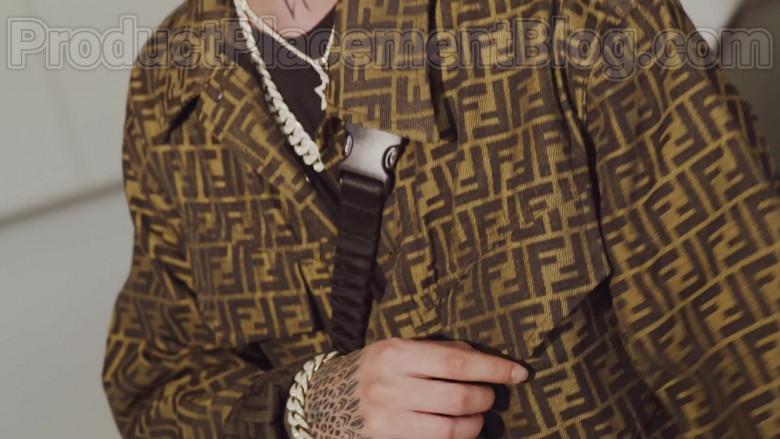 "Natanael Cano Wears Fendi Shirt Outfit in ""Arriba"" Music Video (6)"