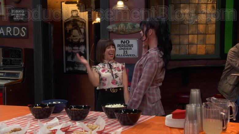 Natasha Leggero Wearing Gucci Skirt Outfit in Broke S01E08 Soccer (2020) TV Show