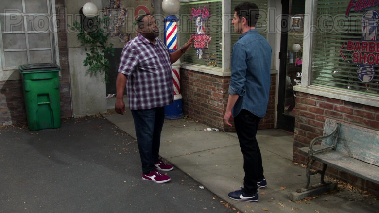 Nike Cortez Shoes of Max Greenfield in The Neighborhood TV Show (1)