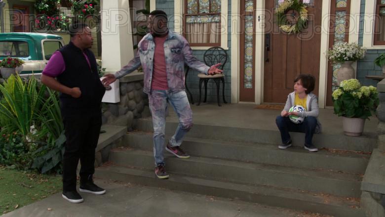Nike Men's Low Classic Brown Shoes of Sheaun McKinney as Malcolm Butler in The Neighborhood (2)