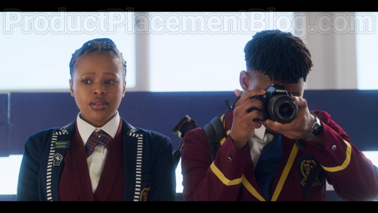 Nikon Camera Used by TV Show Cast Member in Blood & Water S01E02 The Interview (2020) Netflix TV Show