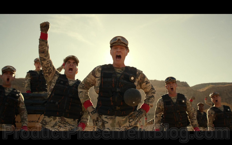 Noah Emmerich as Kick Grabaston Wearing Military Outfit and Under Armour Gloves in Space Force S01E05 TV Show