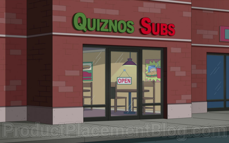 Quiznos Fast-Food Restaurant in Family Guy TV Series (1)